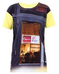 MM6 by Maison Martin Margiela Printed T-shirt Yellow - Multicolour