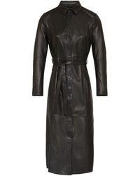 Goosecraft Spencer Leather Dress - Black