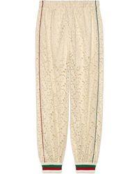 Gucci Flower Lace jogging Pant - White