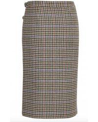 Gestuz - Tweed Checked Skirt - Lyst