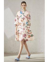Luisa Cerano Floral Print Dress - Pink