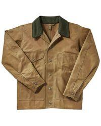 Filson Tin Cloth Jacket Dark Tan - Brown