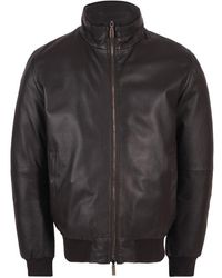 Gimo's Gimos Coat Leather / Suede Brown 20al.r.060cc