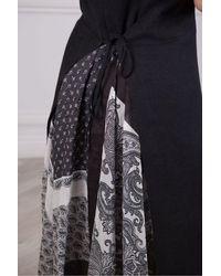 Weekend by Maxmara Weekend Maxmara Blasone Linen Dress With Print Back - Black
