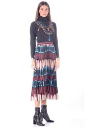 Stella Jean Plisse Skirt - Brown