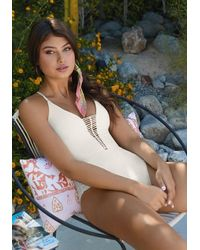 Pilyq Victoria Swimsuit Ivory - White