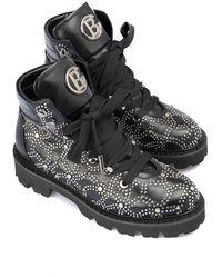 Baldinini Leather Booties - Black
