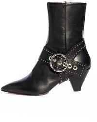 Salar Sophia Dots Boots - Brown