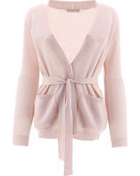 Fabiana Filippi Wool Cardigan - Pink