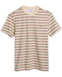 Farah Canyon Stripe T-shirt - Cream - Pink