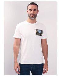 Kent & Curwen Camo Rose Badge T-shirt Colour: White