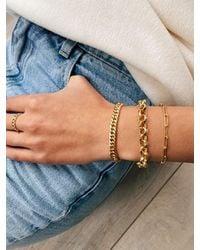 Coco & Kinney Charlotte Chain Bracelet In Gold - Metallic