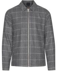 Casual Friday Jan Wool Check Jacket - Grey