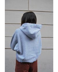 Champion Hooded Crop Sweatshirt - Gray