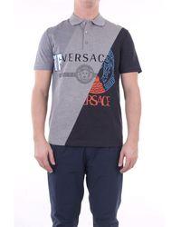 Versace Polo Shirt Short Sleeves Men Grey