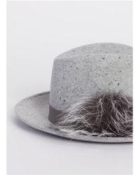 Fabiana Filippi Fedora Hat - Gray