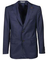 Pal Zileri Men's Q32cz222b170317 Blue Wool Blazer