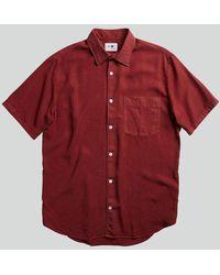 NN07 Errico Shirt In Burnt - Red