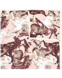 KENZO Men's Fa68ew302pfa34 Pink Silk Foulard