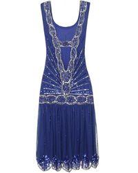 Frock and Frill Zelda Flapper Dress Cobalt - Blue