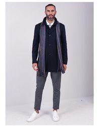 Remus Uomo Rowan Overcoat - Blue