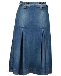 Mauro Grifoni Skirts Denim - Blue