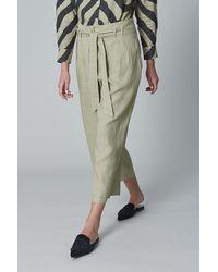 120% Lino 120% P1w29730253000 High Waist Trouser In - Gray