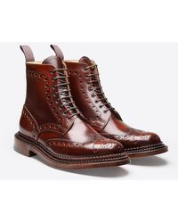 Grenson Fred Triple Welt Boot - Brown