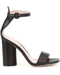 Stuart Weitzman Kimly Open Toe Sandals - Black