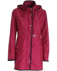 Fay Women's Naw50423190axxm803 Burgundy Other Materials Coat - Red
