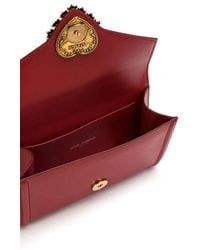 Dolce & Gabbana Devotion Fanny Pack In Plain Calfskin - Red