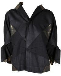 132 5. Issey Miyake X Gold Origami Jacket - Black