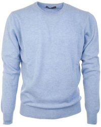 Ones Men's 0014222 Light Blue Cashmere Sweater