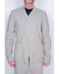 Transit Linen Blazer Stone - Grey