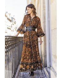 Miss June Tam Long Dress - Metallic