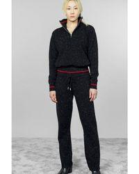 Max & Moi Pirouette 1/4 Zip Knit - Black