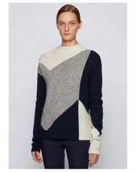BOSS by Hugo Boss Chevron Knit Colour: Navy - Blue
