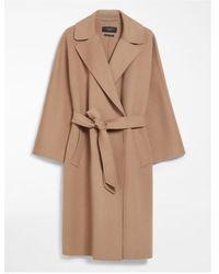 Weekend by Maxmara Camel Belted Wool Coat Ted 50160199 - Brown