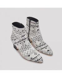 Miista - Lorelle Geo Cream Boots - Lyst