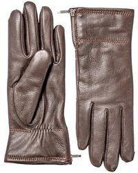 Hestra Ladies Charlene Lined Leather Gloves - Brown