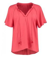 POM Amsterdam Tassel Tie Top - Blushing Coral - Pink