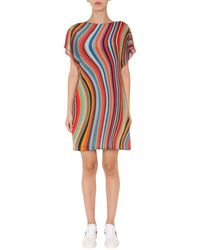 PS by Paul Smith Dress With Striped Pattern - Red