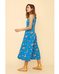 Emily and Fin Alyssa Summer Blooms Midi Dress - Blue