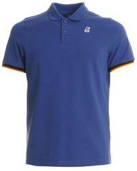 K-Way Men's K008j50379 Blue Cotton Polo Shirt