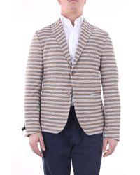 Grey Daniele Alessandrini Jackets Blazer Men Camel And Grey