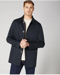 Remus Uomo Tapered Fit Tailored Mac Navy | - Blue