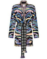 Hayley Menzies Shimmering Tiger Cardi In - Black