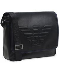 Armani - Armani Maxi Logo Large Messenger Bag - Lyst