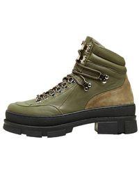 SELECTED Slf Maya Hiking Boots In Kalamata - Green