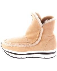 Voile Blanche Boots In Beige - Brown